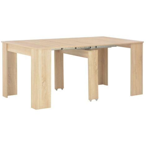 Hommoo Extendable Dining Table Sonoma Oak 175x90x75 cm