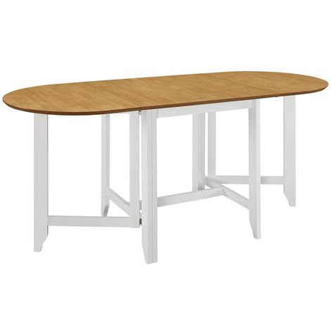 Hommoo Extendable Dining Table White (75-180)x75x74 cm MDF