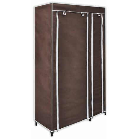 Hommoo Fabric Wardrobe Brown QAH30970