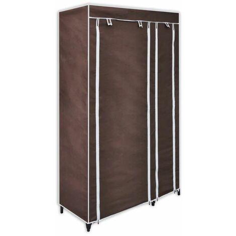 Hommoo Fabric Wardrobes 2 pcs Brown QAH30971