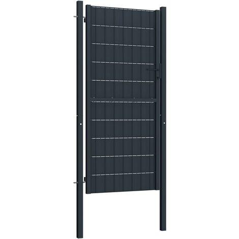Hommoo Fence Gate Steel 100x124 cm Anthracite QAH06461