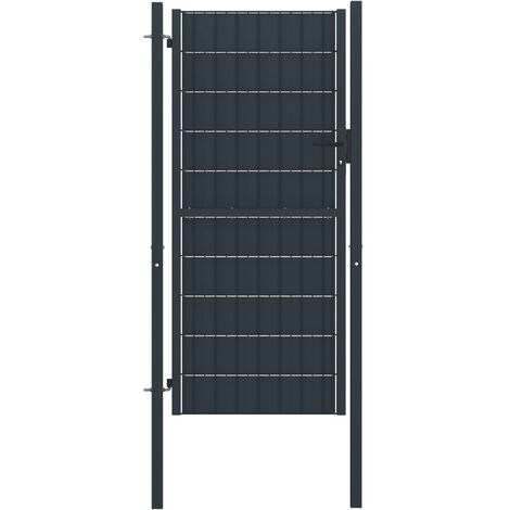 Hommoo Fence Gate Steel 100x124 cm Anthracite VD06461