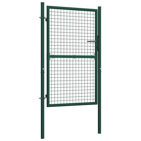 Hommoo Fence Gate Steel 100x150 cm Green VD06528