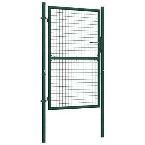 Hommoo Fence Gate Steel 100x175 cm Green VD06529