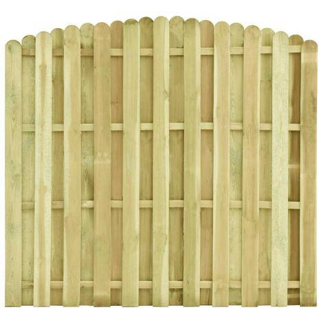 Hommoo Fence Panel Impregnated Pinewood 180x(155-170) cm VD46828