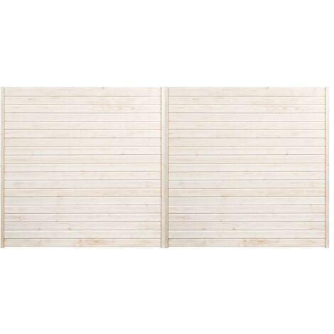 Hommoo Fence Panels 2 pcs 3.4x1.7 m QAH33937