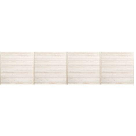 Hommoo Fence Panels 4 pcs 6.8x1.7 m QAH33939