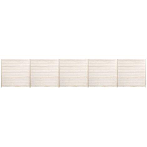Hommoo Fence Panels 5 pcs 8.5x1.7 m QAH33940