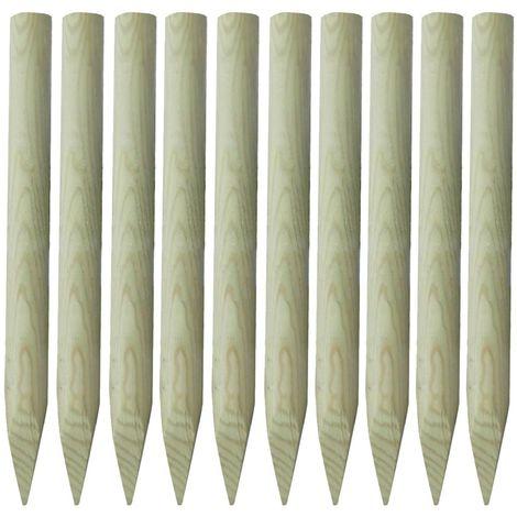 Hommoo Fence Posts 10 pcs FSC Wood 100 cm