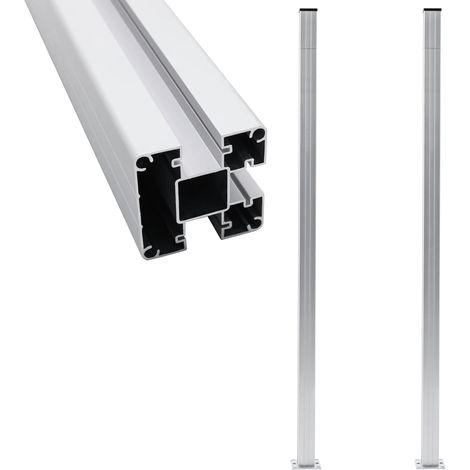 Hommoo Fence Posts 2 pcs Aluminium 185 cm VD46856