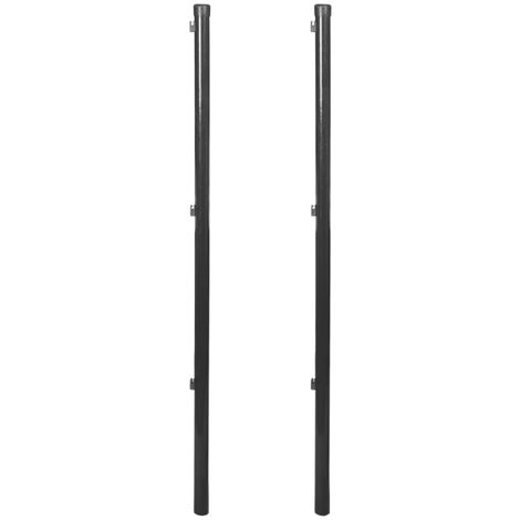 Hommoo Fence Posts for Chain-Link Fence 2 pcs 150 cm