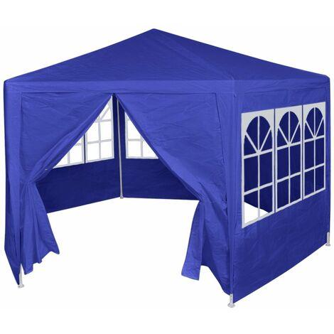 Hommoo Festzelt mit 6 Seitenwänden Blau 2x2 m DDH26967