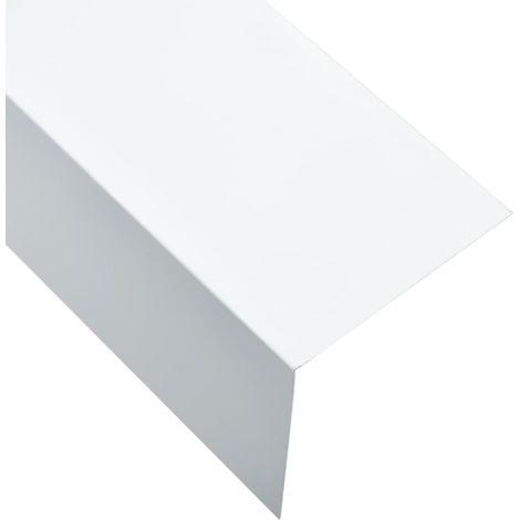 Hommoo Feuilles d'angle 90¡ã en L 5 pcs Aluminium Blanc 100x100 mm