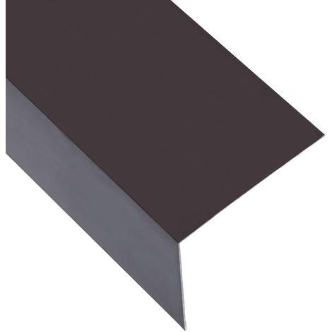 Hommoo Feuilles d'angle 90¡ã en L 5 pcs Aluminium Marron 100x100 mm