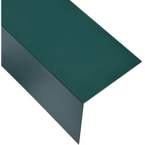 Hommoo Feuilles d'angle 90¡ã en L 5 pcs Aluminium Vert 100x100 mm