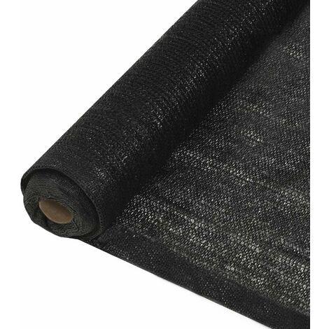 Hommoo Filet brise-vue PEHD 1 x 25 m Noir HDV29382