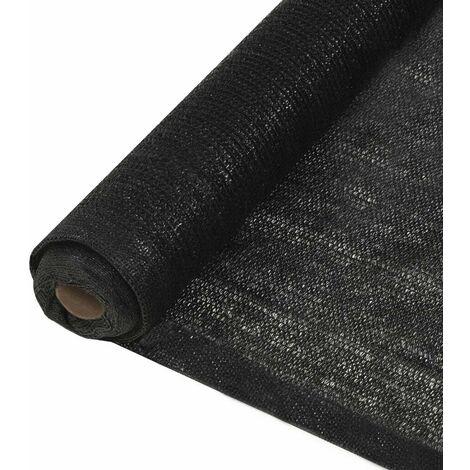 Hommoo Filet brise-vue PEHD 1,5 x 25 m Noir HDV29385