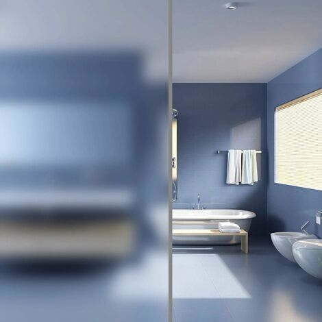 Hommoo Film autoadhésif d'intimité pour fenêtre Verre laiteux 0,9x5 m HDV03753