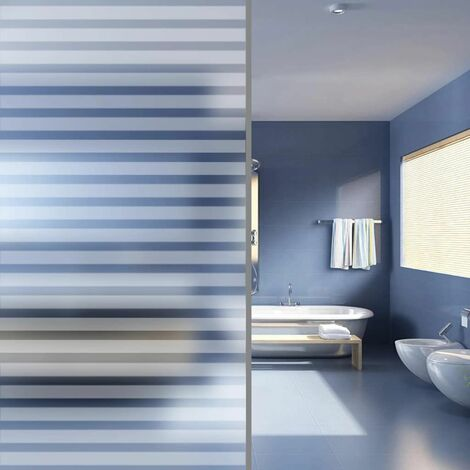 Hommoo Film dépoli autoadhésif d'intimité pour fenêtre Rayures 0,9x5 m HDV04825