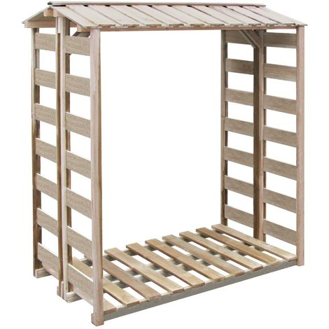 Hommoo Firewood Storage Shed 150x100x176 cm FSC Impregnated Pinewood