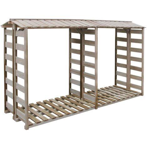 Hommoo Firewood Storage Shed 300x100x176 cm FSC Impregnated Pinewood