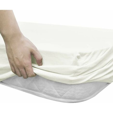 Hommoo Fitted Sheets for Cots 4 pcs Cotton Jersey 40x80 cm Offwhite QAH02248