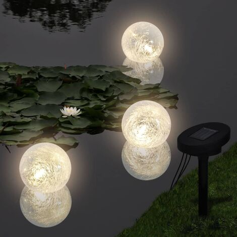 Hommoo Floating Lamps 6 pcs LED for Pond and Pool QAH19854