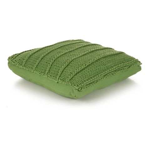 Hommoo Floor Cushion Square Knitted Cotton 60x60 cm Green