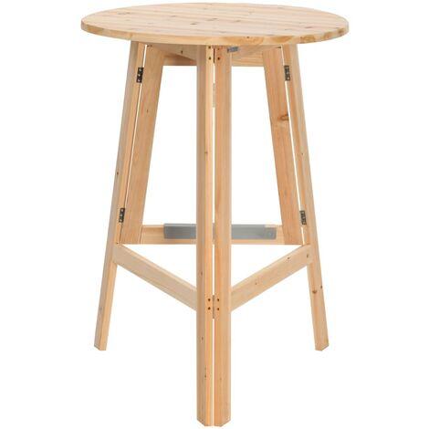 Hommoo Foldable Bar Table 78 cm Fir Wood QAH29662