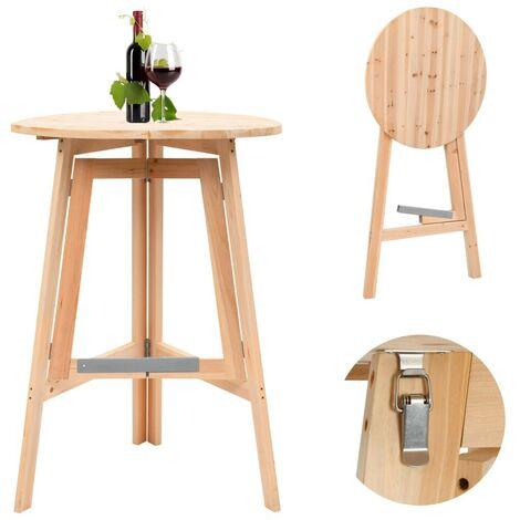 Hommoo Foldable Bar Table 78 cm Fir Wood VD29662