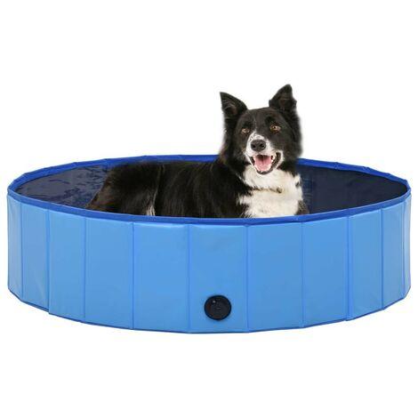 Hommoo Foldable Dog Swimming Pool Blue 120x30 cm PVC VD07338