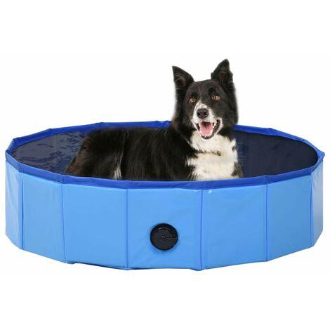 Hommoo Foldable Dog Swimming Pool Blue 80x20 cm PVC VD07337