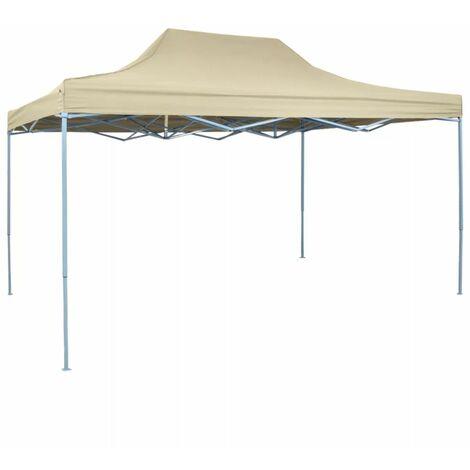Hommoo Foldable Tent Pop-Up 3x4.5 m Cream White QAH27058