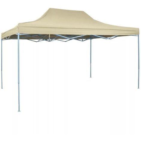 Hommoo Foldable Tent Pop-Up 3x4.5 m Cream White VD27058