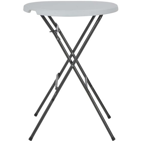 Hommoo Folding Bar Table White 80x110 cm HDPE QAH28752
