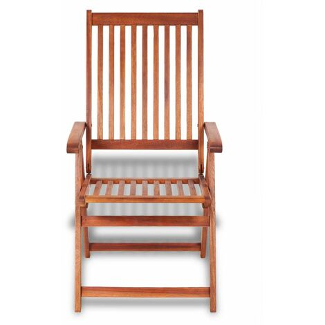 Hommoo Folding Garden Chairs 2 pcs Solid Acacia Wood Brown QAH26706