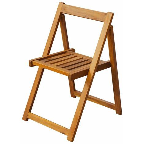 Hommoo Folding Garden Chairs 2 pcs Solid Acacia Wood QAH27170