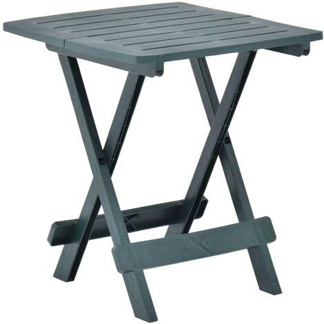 Hommoo Folding Garden Table Green 45x43x50 cm Plastic VD46699