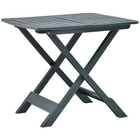 Hommoo Folding Garden Table Green 79x72x70 cm Plastic VD46681