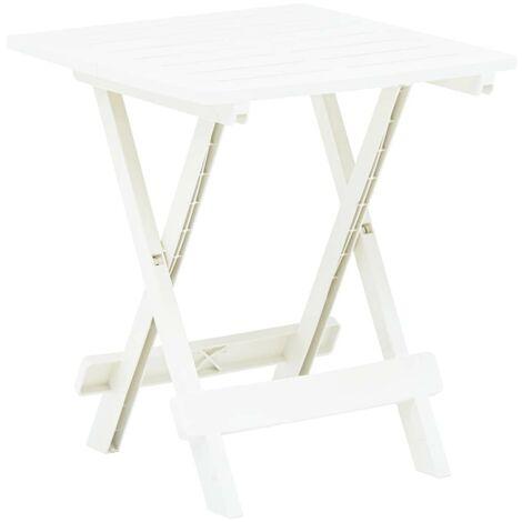 Hommoo Folding Garden Table White 45x43x50 cm Plastic VD46698