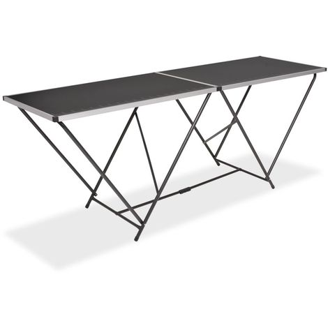 Hommoo Folding Pasting Table MDF and Aluminium 200x60x78 cm