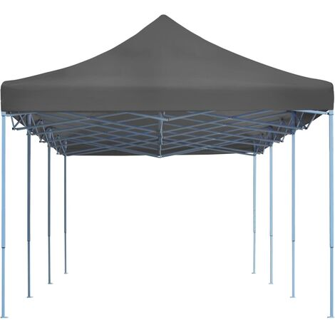 Hommoo Folding Pop-up Party Tent 3x9 m Anthracite QAH29146