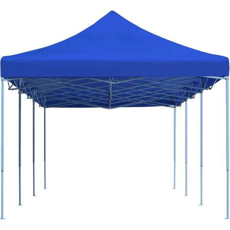 Hommoo Folding Pop-up Party Tent 3x9 m Blue VD29143