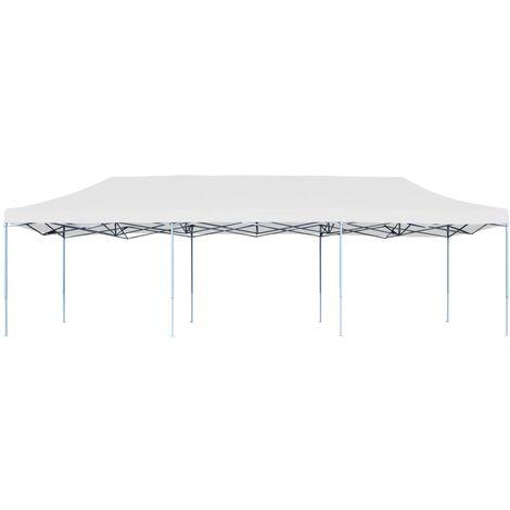 Hommoo Folding Pop-up Party Tent 3x9 m White QAH46733