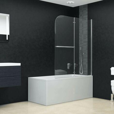 Hommoo Folding Shower Enclosure 2 Panels ESG 120x140 cm VD06123