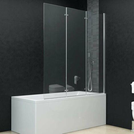 Hommoo Folding Shower Enclosure 3 Panels ESG 130x138 cm VD06125