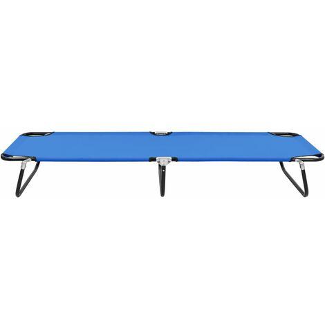 Hommoo Folding Sun Lounger Blue Steel QAH46133