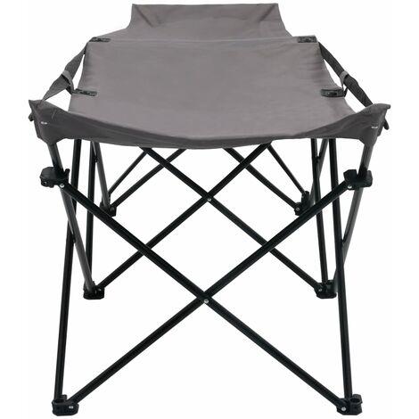 Hommoo Folding Sun Lounger Grey Steel QAH46146