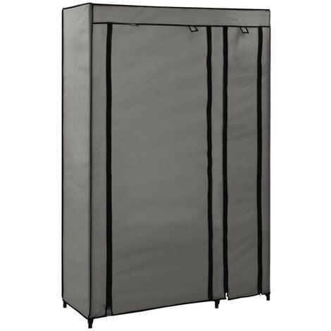 Hommoo Folding Wardrobe Grey 110x45x175 cm Fabric VD23536