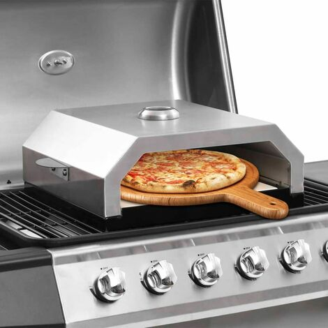 Hommoo Four à pizza avec pierre en céramique pour barbecue au charbon HDV45878